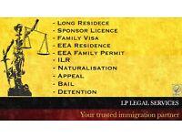 Immigration Services -Tier 2, Tier 4,Tier 5,ILR, EEA Family Visa, Bail, Appeal, FLR(O)- Visa service