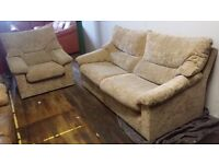 Soft Chenille beige suite - (3+1) - Delivery available