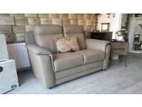 Giuseppe Nicoletti designer leather 2.5 seater sofa