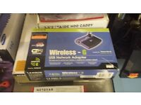 CISCO LINKSYS WIRELESS USB NETWORK ADAPTER + ROUTER