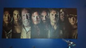 Large Walking Dead Character Canvas.