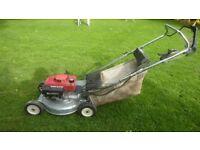 Honda self propelled mower, alloy deck, blade clutch