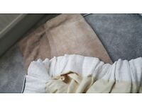 Beige curtains specially made 90 x 90 really nice great condition