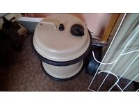 Caravan aquaroll water storage container, with handle.