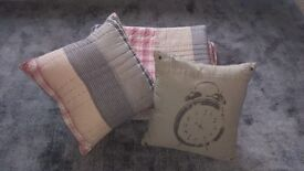 Next Home Patchwork throw matching cushion and clock cushion from Salvage Collection