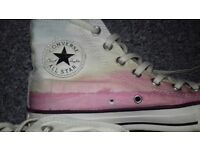 Converse size 6 sunset pink shoes