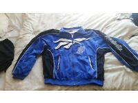 Retro Reebok Jacket (blue, white & black) Large