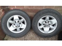 Nissan Terrano alloys and tyres