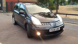 NISSAN NOTE 2008 08 1.6 ACENTA AUTOMATIC 5 DOOR MPV, 1 YEARS MOT F.S.H 1495