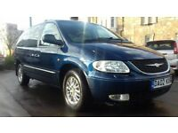 Chrysler Grand Voyager 2.5 CRD Limited Blue Manual Full Service History One owner long MOT