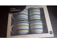 4 mugs from TU in box