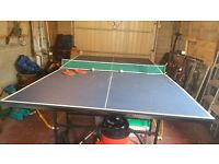 Table tennis table. Full size. Folds easily to store. Good condition.