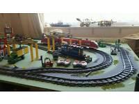 Lego train set up