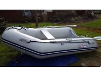INFLATEABLE SUNSPORT 2.7MT RIB COMPLETE WITH SUZUKI 6HP S.S. OUTBOARD