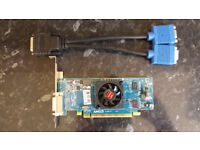 AMD HD6350 1Gb PCI-e Graphics Card DMS-59 Connector complete with Dual VGA lead for 2 monitors