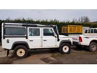 2010 defender 110 station wagon left hand drive non register Ideal for export air con 7 seater