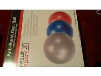 ANTI BURST GYM BALL WITH DVD