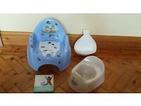 Potty training bundle boys. Mini toilet,potty, urinal and book.