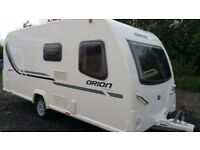 Bailey Orion 430-4 2011 4 berth single axle touring caravan with fixed bed and one owner £7995