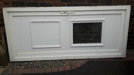 UPVC door and frame with glass panel