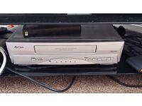 old VHS cassette player, works ok, no remote