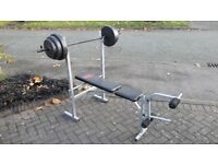 PRO POWER WEIGHTS BENCH & 30KG WEIGHTS & BAR