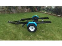 Motorcycle bike transport trailer or camping/box trailer.