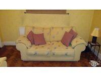 Set of 2 three seater sofas