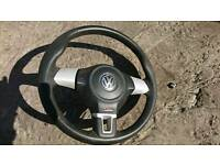 Vw steering wheel, rare, superb