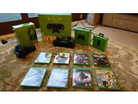 Xbox one with 31 games (2 controllers+kinect+headset)