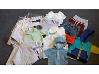 Baby Boy Clothes Bundle 0-3 Months and Baby Bath