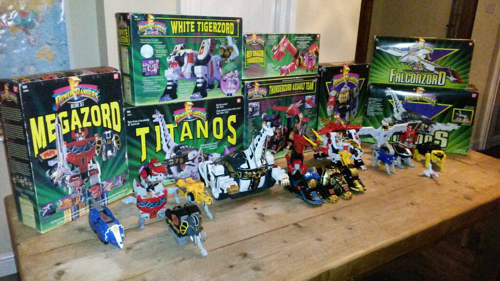 Original vintage Power Rangers Megazord collection all boxed and complete - see photos