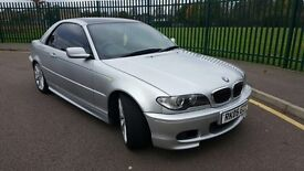 LOW MILEAGE,HPI CLEAR,BMW 320CI M-SPORT CONVERTIBLE,75000 MILES,FULL SERVICE HISTORY,ONE OWNER