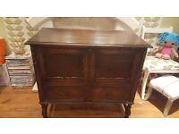 Vintage Retro Sideboard Side Board Dresser Laundry Cupboard 2 Drawers
