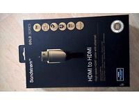 SANDSTROM S2HDM315 HDMI Cable with Ethernet - 2 m length _UNUSED AND UNBOXED