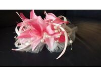 Wedding or Special Occasion Fascinator Pink Ivory