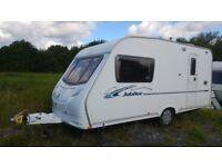 Ace Jubilee Ambassador 2007 Caravan. Spacious 2 Berth & Porch Awning