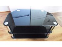 tv glass table,tempered black glass,mint condition