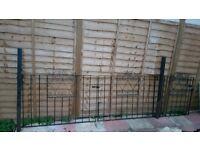 Metal Gate, driveway gates and matching metal railings