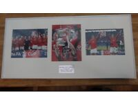 Manchester United Signed Framed Photographs - FA Cup Final 2004