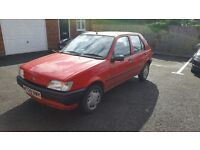 Ford Fiesta M Reg (1995) 1.1 Litre Red SPARES OR REPAIRS