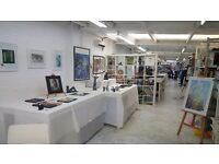 Light Bright Artist Work-space in shared studio next to Berrylands mainline station