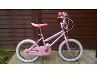 Girls Pink Bike for 6-9 years old