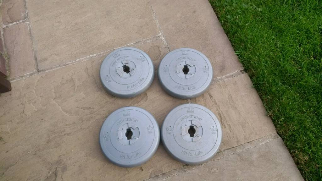 4x Weight plates ,6.5kg