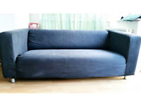 Two seater sofa Ikea Klippan - Grey/light black colour - Very good cond.!!!
