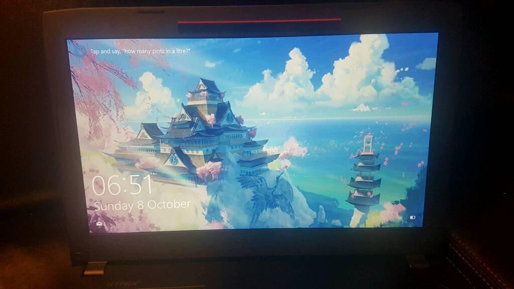 Asus ROG strix GL502VM gaming laptop, GTX 1060, i5 7300HQ 12GB. 1tb HD 128gb SSD
