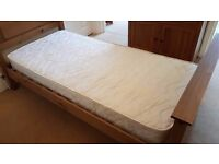 Clean and unmarked single 3ft sprung mattress in very good condition