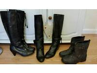 BOOTS. 3 PAIRS ALL FOR £30