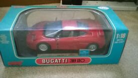 Bugatti EB 110 Red Anson1:18 Metal Die-Cast Complete in Box Never opened