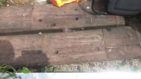 Railway sleepers old original oak sleepers 2.4 long